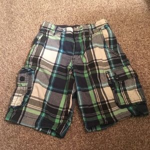 Faded Glory Plaid Cargo Shorts